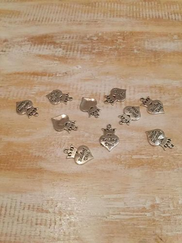 Beading Diva Heart Charms x 10 A Pack
