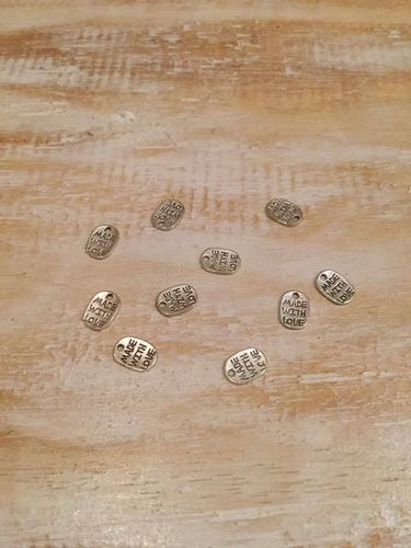 Made With Love Silver Charms x 10 A Pack