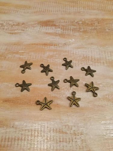 Starfish Bronze Charms x 10 A Pack