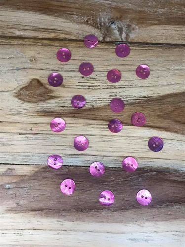 20 Bright Pink Dyed Mother of Pearl Buttons