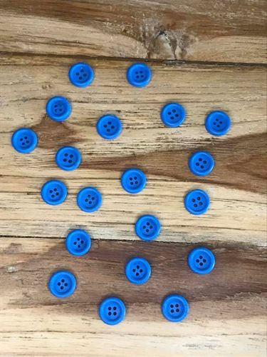 20 Blue 4 hole Wooden Button