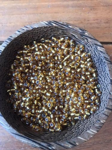 50 grams Old Gold Silver Lined size 6 Seed Beads