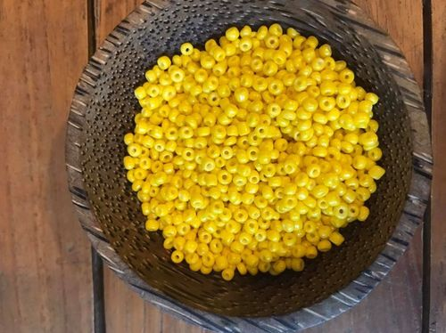 50 grams Sunflower Yellow Glass Size 8 Seed Beads