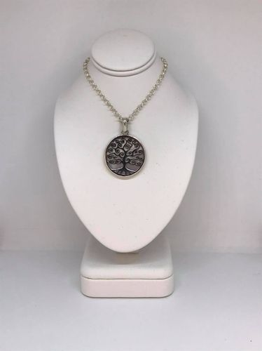 Mother Of Pearl Large Tree Of Life 925 Silver Pendant