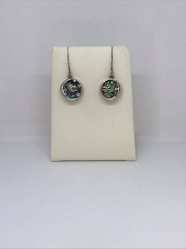 Abalone Shell Sun & Moon Casting 925 Silver Earrings