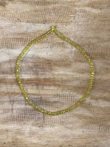 Yellow 4mmx6mm Faceted Glass Beads,40cm,100 beads