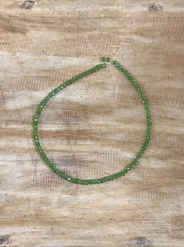 Spring Green 4mmx6mm Faceted Glass Crystal Beads,40cmm,100 beads